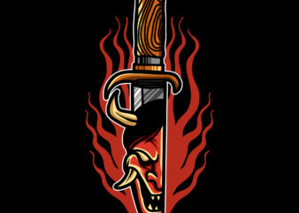 devil dagger oldschool t shirt design for download