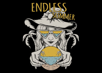 Endless summer t-shirt design for sale