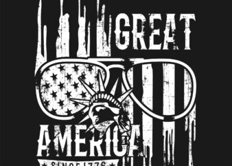 Great America vector graphic t shirt design to buy