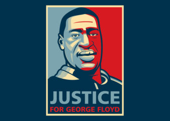Justice for George Floyd graphic t-shirt design