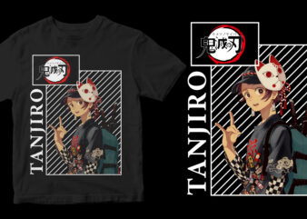 tanjiro, kimetsu no yaiba t-shirt design for sale