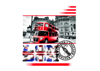 London Stamps t shirt design for sale