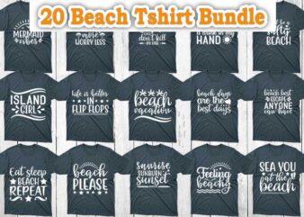 20 Beach T shirt Designs Bundle, Beach Designs, Beach Bundle, Beach svg designs, Beach svg bundle, Beach craft designs, Beach craft bundle, Beach cutfiles, Beach cricut