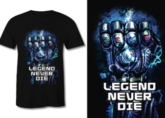 Gamer Legend never die Graphic PNG t shirt design to buy