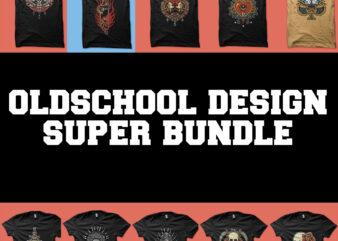 oldschool and tattoo super bundle tshirt design