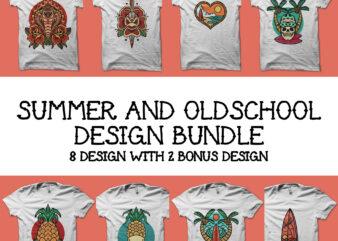 summer and oldschool design bundle