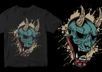 the ronin mask dark abstract shirt design png