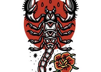 scorpion tattoo shirt design png