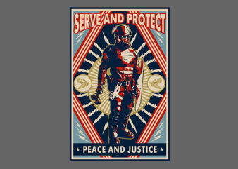serve and protect t shirt design for download