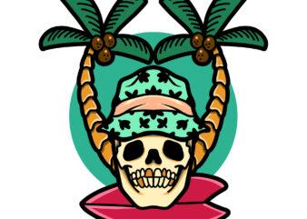 skull summer graphic t-shirt design