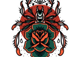 spider tattoo t shirt design to buy