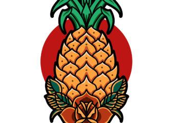 pineapple summer ready made tshirt design