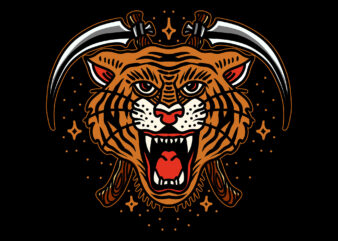 tiger t-shirt design for commercial use