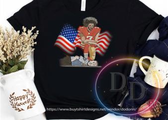 Colin Kaepernick Kneel Cops Black Lives Matter buy t shirt design for commercial use