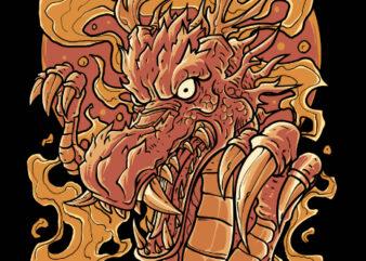 dragon fire tshirt design