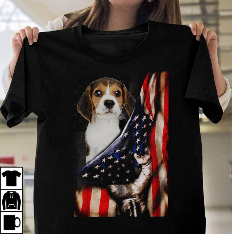 1 DESIGN 30 VERSIONS – Dog Breeds with Us flag