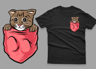 pocket cat funny cute