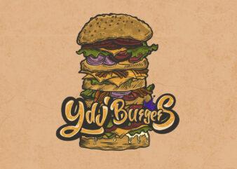 Burgers t-shirt design