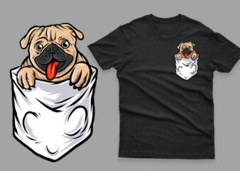 pocket pug funny cute