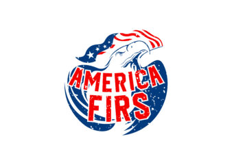 America First T-Shirt Design, with Eagle and American Flag