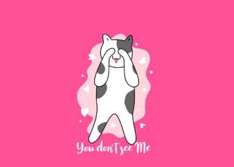 Cute Cat Cartoon Pet Animal T-Shirt Design