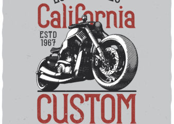 Custom Motors. Editable t-shirt design.