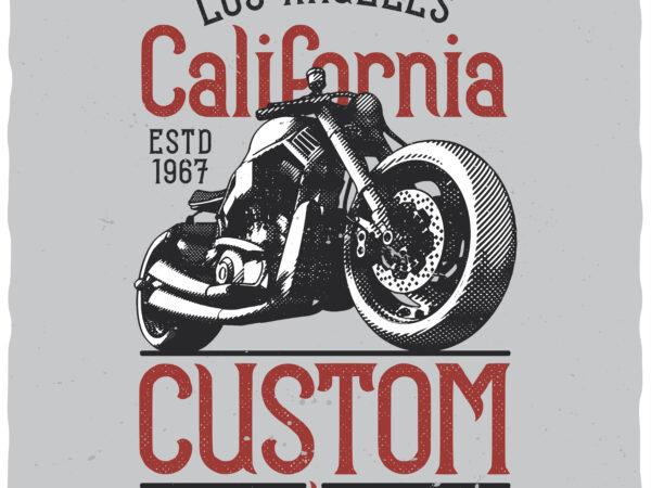 Custom Motors. Editable t-shirt design.
