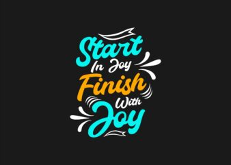 Typography hand-drawn lettering slogan quotes t shirt design