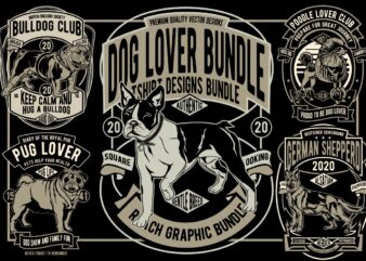 7 Dog Lover Tshirt Designs Bundle