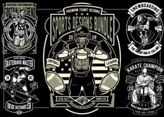 29 Sports Tshirt Designs Bundle
