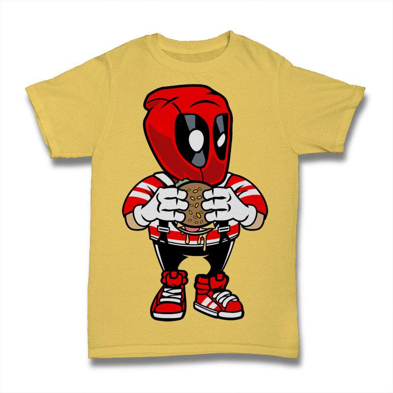 39 Pop Culture Cartoon Tshirt Design Bundle #2
