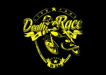 Bike Death Race,Bike Death Race png,Bike Death Race design T-Shirt Design for Commercial Use