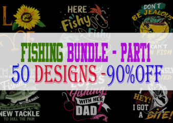 Fishing Bundle Part 1 – 50 Designs – 90% OFF