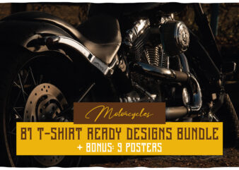 Motorcycles T-shirt Designs BUNDLE
