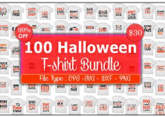 100 best selling Halloween Tshirt designs Bundle