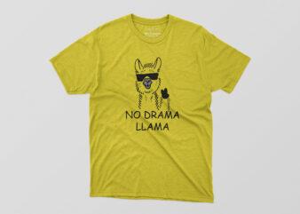NO-DRAMA-LLAMA Tshirt Design