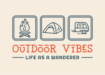 Outdoor Vibes T-shirt Design for Sale