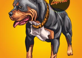 PNG illustration Pitbull Dog cartoon artwork for sale