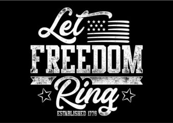 Typography American Themes – Let Freedom Ring
