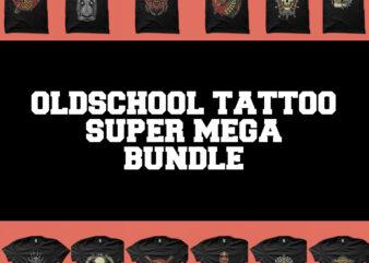 tattoo oldschool super mega bundle tshirt design