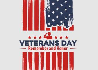 """Veterans Day"" vector design t-shirt template buy t shirt design"