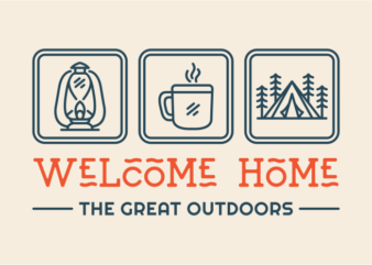 Welcome Home T-shirt Design for Commercial Use