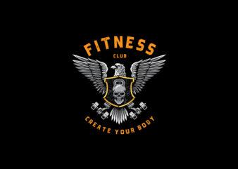 Fitness Club vector t-shirt design