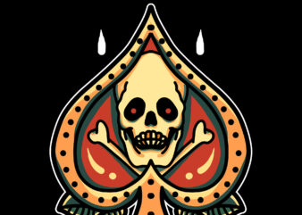 ace skull tshirt design for sale