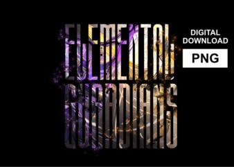 Elemental Guardians – PNG Tshirt Design Sublimation for sale