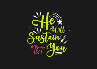 Bible Verses T shirt Design Typography Lettering
