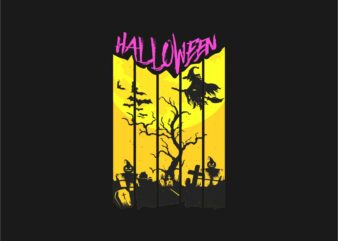 Halloween Silhouette T-shirt Design. Day of the dead t-shirt designs vector. Eps Svg Png
