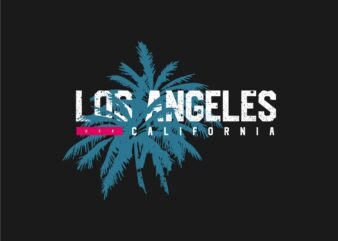 Los Angeles California Graphic T-sihrt, Vector Eps Svg Png
