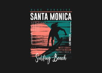 Santa Monica Surfing Beach Paradise