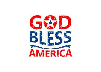 God Bless America, T-shirt design vector eps svg png